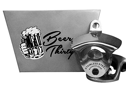 Barware Gear Bundle - 2 Items: Stainless Steel Wall Mounted