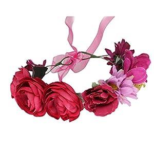 Cereoth Blumenkranz Rose Blumenkranz Girlande Stirnband für Hochzeit