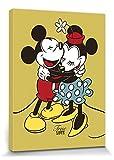1art1 73980 Walt Disney - Mickey & Minnie Mouse, True Love Poster Leinwandbild Auf Keilrahmen 40 x 30 cm
