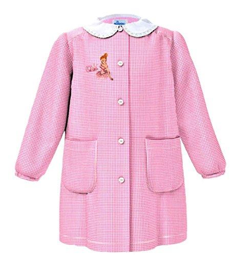 Grembiule scuola siggi linea happy school - asilo bambina colore quadretto rosa -ricamo queen - abbottonatura centrale con bottoni,colletto bianco con ricamo.disponibile nelle taglia dalla 2 a 7 anni