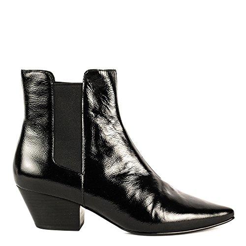 Ash CLASH Boots Black Vinyl Leather 38 Black