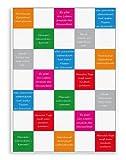 Triolino Halbleinen Geschirrtuch Küchentuch Farbe Küchensprüche Grösse 50 x 70 cm