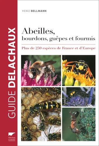 Abeilles, bourdons, guêpes et fourmis . Plus de 250 espèces de France et d'Europe par Heiko Bellmann