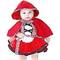 Costume di Carnevale da Cappuccetto Rosso Lusso Vestito per Bambina Ragazza  Travestimento Veneziano Halloween Cosplay Principessa 35aa44ddf1f