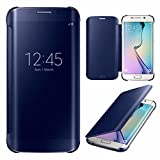 Best Phone Cases For Samsung Galaxy S6 Edges - Sparkling Trends Clear View Mirror Flip Smart Cover Review