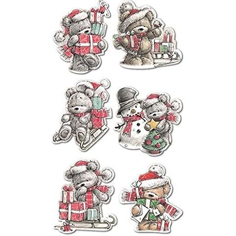 30–Albero di Natale orsetto babbo natale con