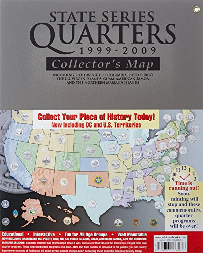 State Quarters Series (State Series Quarters 1999-2009 Collectors Map: Including the District of Columbia, Puerto Rico, the U.s. Virgin Islands, Guam, American Samoa, and the Northern Mariarna Islands)