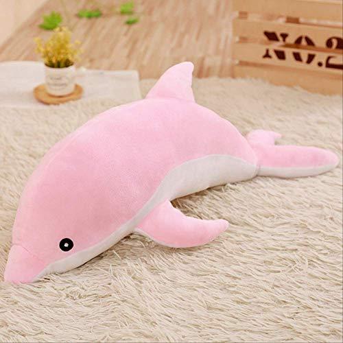ahzha Großer Plüsch Delfin Spielzeug Gefüllte Meerestiere Süße Mädchen Puppen Weiches Baby Schlafkissen Weihnachtsgeburtstagsgeschenk Für Kinder 120Cm Großes Kissen Rosa
