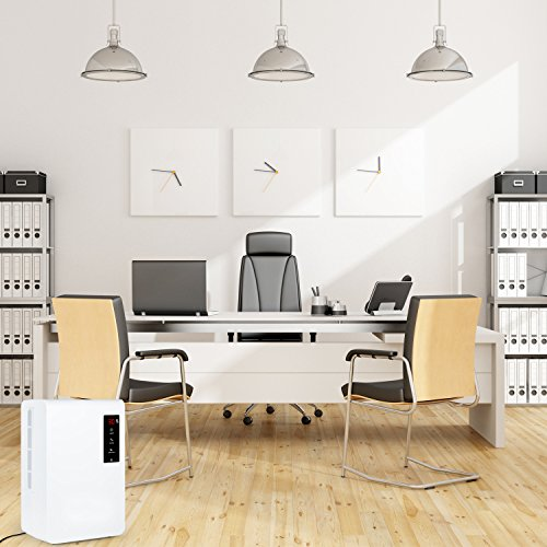 Luftentfeuchter YIPIN 3L Kompakter Raumentfeuchter Elektrisch Bautrockner für Haus, Küche, Schlafzimmer, Keller, Schrank, Wohnwagen und Büro (für Räume bis 25 m², Entfeuchtungsleistung = 1500ml/Tag) -
