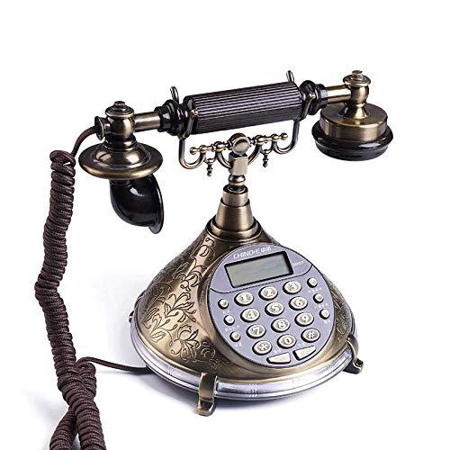Ousai Antique Retro Style Voice Bericht Home Telefon Festnetztelefon Büro Fest Anrufer ID Kabel Sitz Fest Telefon Bronze