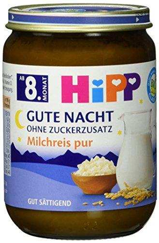 HiPP Gute Nacht, Milchreis pur, 6er Pack (6 x 190 g)