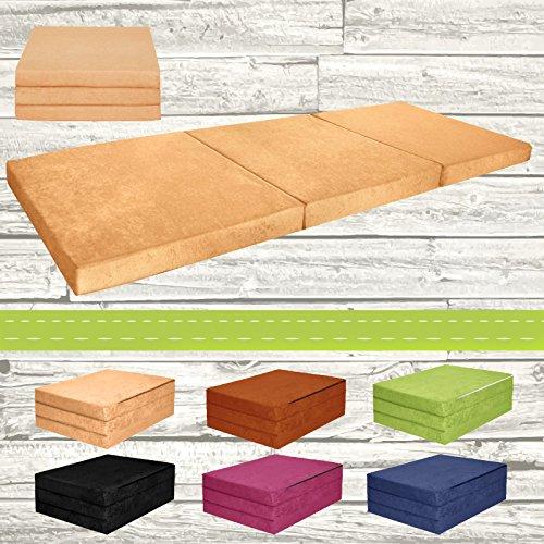 Materasso-pieghevole-per-ospiti-letto-per-letto-Ospite-futon-Pouf-195-x-80-x-9-cm-colore-Beige