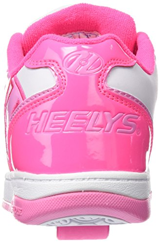 Heelys Bambina Propel 2.0 770605 Scarpe con 1 rotella Multicolore (White/Hot Pink/Light Pink)