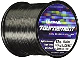 Ultima E5642 Tournament Super Strong Ultra Tough Sea Fishing Line - Solid Black, 0.30 mm - 12.0 lb