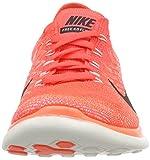 Nike Damen Free 4.0 Flyknit Laufschuhe, Orange (Leuchtendes Karmesinrot/Hyper-Orange/Volt/Schwarz 602), 39 EU -
