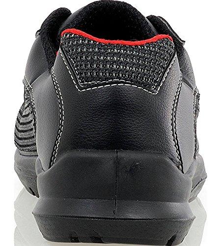 Oxygene S1P Sicherheitsschuh - Schuhe EN ISO 20345 S1P für Innenbereiche geeignet - Arbeitsschuhe mit Durchtrittschutz Schwarz