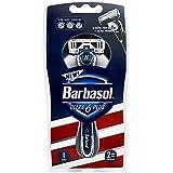 #5: Barbasol Ultra 6 Plus Men's Razor with 2 Razor Blade Refills (1 Handle + 2 Cartridges), Mens Razors/Blades