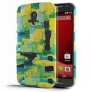 Koveru Designer Printed Protective Snap-On Durable Plastic Back Shell Case Cover for Motorola Moto G2 - Paint Pattern