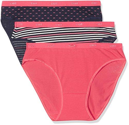 Dim Les Pockets Coton Slip X3 Braguita, Multicolor (Estampado 5MM), 36 (Tamaño del fabricante: 36/38) (Pack de 3 para Mujer