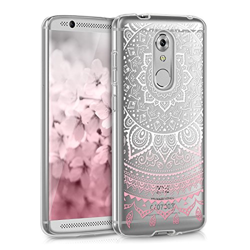 kwmobile ZTE Axon 7 Mini Hülle - Handyhülle für ZTE Axon 7 Mini - Handy Case in Rosa Weiß Transparent