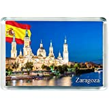 GIFTSTICY H295 Zaragoza Imán para Nevera Spain Travel Fridge Magnet