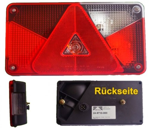 Aspöck multipoint 5 bonne lumière avec feux de marche arrière + connexion à baïonnette