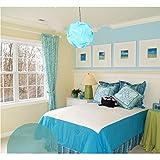 Excerando Puzzle Lampenschirm / Puzzle IQ Light Schatten Deckenlampenschirm moderne hängende Beleuchtung Dekoration Durchmesser 40cm für Salon Schlafzimmer Halle etc(Hellblau)