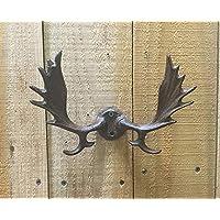 Cast Iron Elk Deer Antlers Wall Hook Hunting Decor