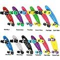 WeSkate Mini Cruiser Skateoard Komplettboard für Kinder, 57cm Retro komplettes Skateboard für Jugendliche und Erwachsene Jungen Mädchen ab 4 jahre, Ostergeschenke