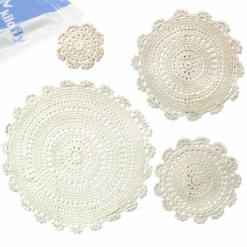 kilofly-handmade-crochet-round-cotton-lace-table-placemats-doilies-assorted-value-pack-set-of-4-meda