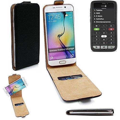K-S-Trade® Für Doro 8031C Flipstyle Schutz Hülle 360° Smartphone Tasche, Schwarz, Case Flip Cover Für Doro 8031C
