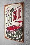 Blechschild Oldtimer Auto Autoverkauf