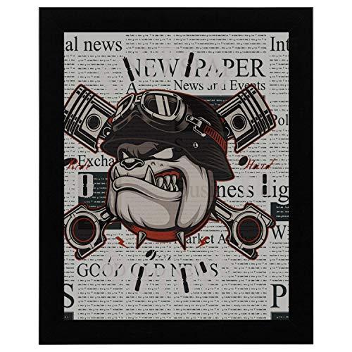 Girly Wandkunst eine Bulldogge wütend Tier Wandkunst für Schlafzimmer 17 x 13 Zoll gerahmte Print Kunstdruck Vintage Wörterbuch Buch Zeitung Seite Kunstdruck Wandkunst Badezimmer Dekor Wandkunst - Fine-art-tier-artwork