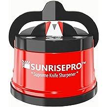Afilador De Cuchillos SunrisePro Best Para Cuchillas Rectas Y Dentadas, Manos Libres, Seguro Para La Familia, Regalo Perfecto, Patentado En Estados Un