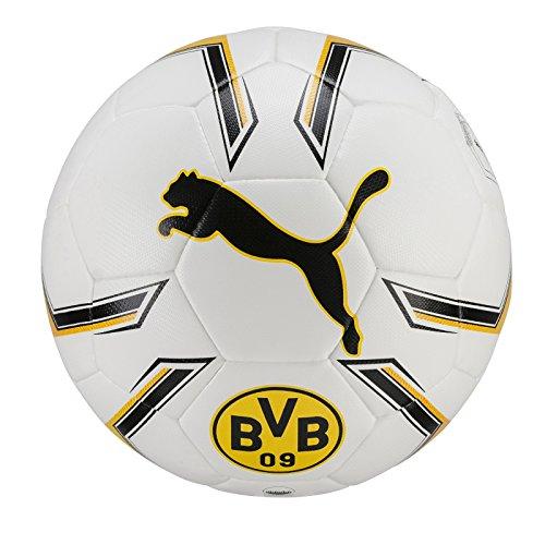 PUMA BVB Hybrid Fußball, White-Cyber Yellow, 5 (Fußball Ball Puma)