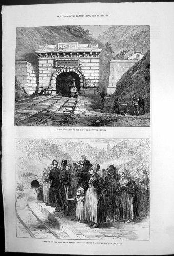 Tunnel Öffnung Mont Cenis Nordeingang 1871 Modane