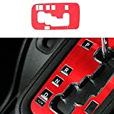 Accesorios interiores de aluminio, cubierta de marco de engranaje, cubierta de marco de panel para Jeep Wrangler, decoración interior de coche, rojo