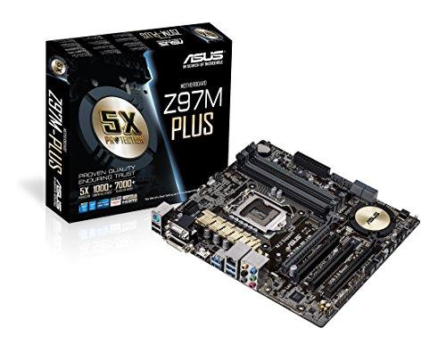 Asus Z97M-PLUS Mainboard Sockel 1150 (ATX, Intel Z97, 4x DDR3-Ram, PCIe 3.0 x16, 6x SATA) (Asus Z97 A Mainboard)