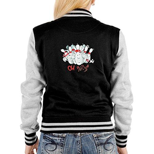 Lady Jacke ::: Bowling - OH ::: mit USA Motiv auf der Rückseite (Sweatshirt Bowling Baumwolle)