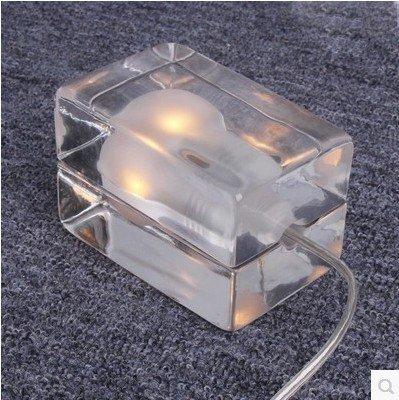 12vmonster Iced Out Designer Glas Schreibtisch Tisch Bar LED/Halogen G9Fassung Ice Cube Lampe