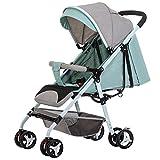 GYGYGY Kinderwagen - Ultraleicht Kann Sitzen Liegen Baby Regenschirm Falten Schock Neugeborenes Kind Kinderwagen,Green