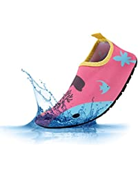 PADGENE Chaussures d'eau Enfants Garçons Filles Bébés Unisexe Chaussures Plage Piscine Yoga Natation