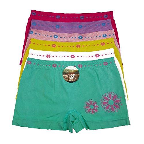 6 PACK Kinder Mädchen Pantys Boxer Unterhose Panty Unterwäsche Boxershorts Slips Schlüpfer Microtouch (GL-MP02 140-146)