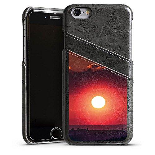 Apple iPhone 4 Housse Étui Silicone Coque Protection Coucher de soleil Paysage Romantisme Étui en cuir gris