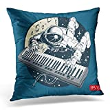 Dress rei Spaceman Astronaut Playing Piano Synthesizer in Space Tourist Flying Decorative Pillow Case Home Decor Square 18x18 Inches Pillowcase