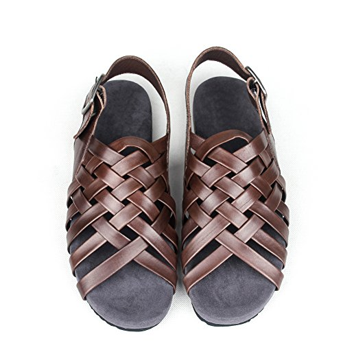 Romain tissé sandales pour hommes/Tendance de sandales de loisirs/ sandales pour hommes en cuir/Chaussures de plage A