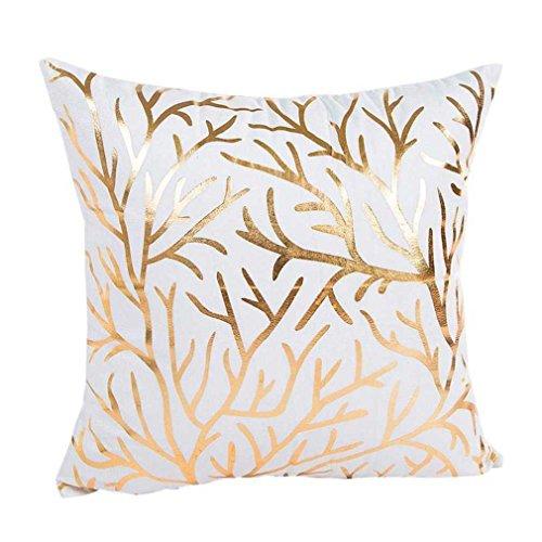 Federe cuscini,fittingran pupazzo di neve di natale stampato federa di lino natale stampa tintura divano letto home decor cuscino copri cuscino (h)
