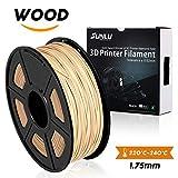SUNLU Wood Filament - 1.75 mm 3D Drucker Filament, 1kg Spule (2.2 lbs), Maßgenauigkeit +/- 0.02 mm Sweet Geruch 3D Druck Filament, Holz 3D Drucker Filamente für die meisten 3D Drucker & 3D Pen