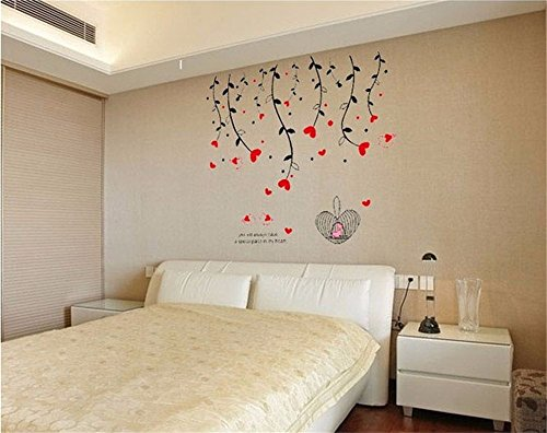 jaysk-liebe-blume-ranke-wandaufkleber-wall-sticker-idyllische-wind-wand-poster-60-cm-90-cm-einem-auf