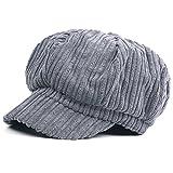 Kuyou Schirmmütze Warme Barett Mütze mit Schild Damen Winter Kappe Hut